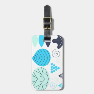 Luggage tag with Nature leaves
