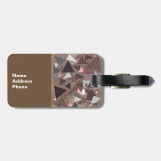 """Luggage Tag with """"Triangles Sierra"""" design"""