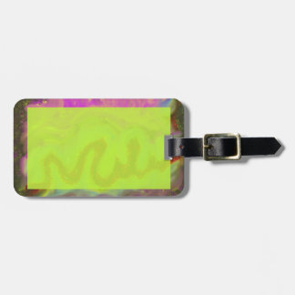 Luggage Tag with Tropical Colors