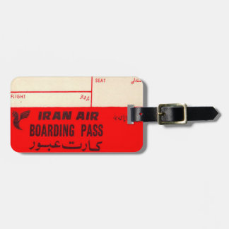 Luggage Tag with Vintage Iran Air Print