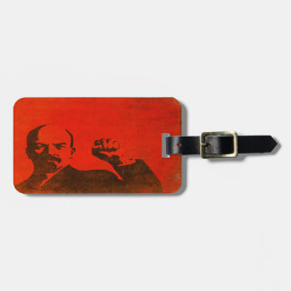 Luggage Tag with Vintage Propaganda from USSR