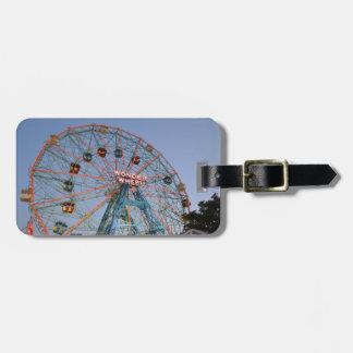 Luggage Tag: Wonder Wheel at Coney Island Luggage Tag