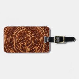 Luggage Tag - wood tone