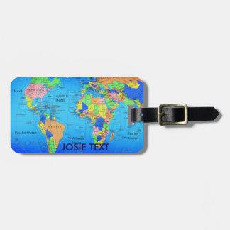 Luggage Tag - World Map