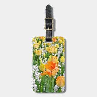 """LuggageTag , """"Tulips and Hyacinths"""" Bag Tag"""