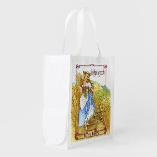 Lughnasadh maiden reusable grocery bag