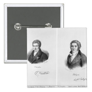 Luigi Cherubini  and Nicolas Marie Dalayrac 2 Inch Square Button