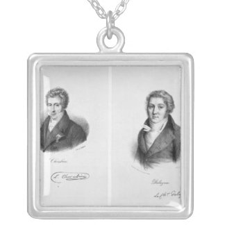 Luigi Cherubini  and Nicolas Marie Dalayrac Silver Plated Necklace