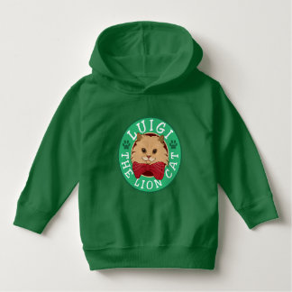 Luigi The Lion Cat Logo Hoodie
