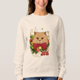 Luigi The Lion Cat's Christmas Ugly Sweatshirt