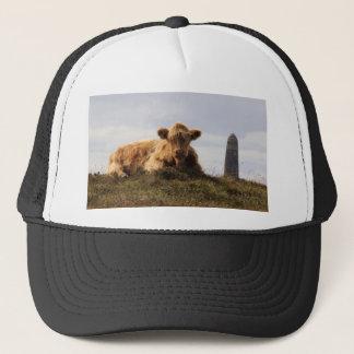 Luing cow on the Isle of Islay, Scotland Trucker Hat