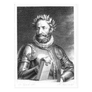 Luiz Vaz de Camoes  engraved by B. Roger Postcard