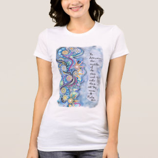 Luke 10:27 Starlight T-shirt.  Blue Starry Night T-Shirt