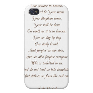 Luke 11:2-4 Our Father.. Covers For iPhone 4