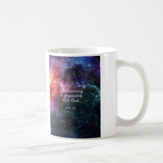 Luke 1:37 coffee mug