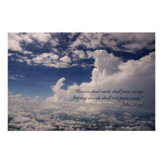 Luke 21:33 Scripture Poster (Version C)