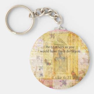 Luke 6:31  Do to others BIBLE VERSE Keychain