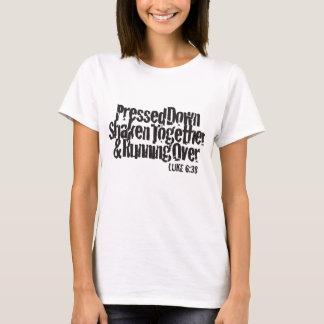 Luke 6:38 Black on White T-Shirt