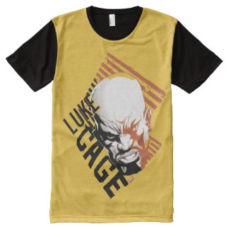Luke Cage Badge All-Over-Print T-Shirt