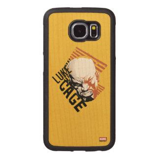 Luke Cage Badge Wood Phone Case