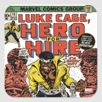 Luke Cage Comic #15 Square Sticker