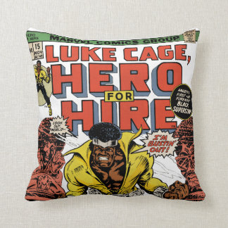 Luke Cage Comic #15 Throw Pillow