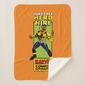 Luke Cage Comic Graphic Sherpa Blanket