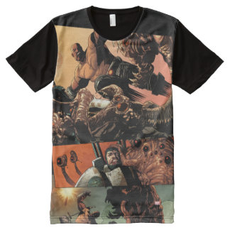 Luke Cage Fighting Aliens All-Over-Print T-Shirt