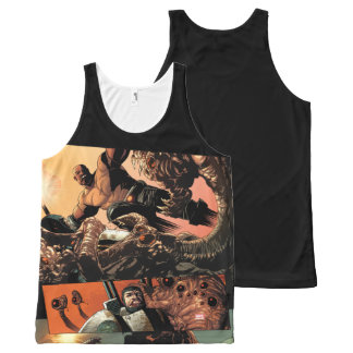 Luke Cage Fighting Aliens All-Over-Print Tank Top