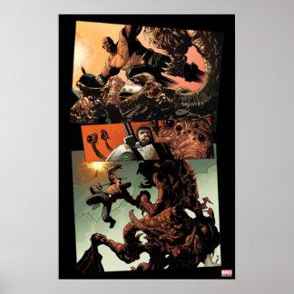 Luke Cage Fighting Aliens Poster