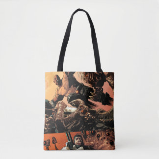 Luke Cage Fighting Aliens Tote Bag