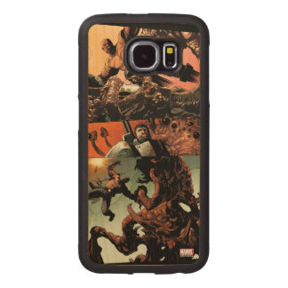 Luke Cage Fighting Aliens Wood Phone Case