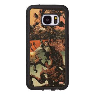 Luke Cage Fighting Aliens Wood Samsung Galaxy S7 Case