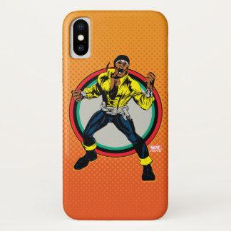 Luke Cage Retro Character Art iPhone X Case