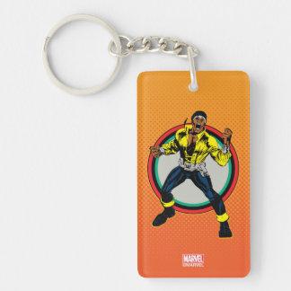Luke Cage Retro Character Art Keychain