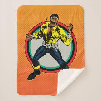 Luke Cage Retro Character Art Sherpa Blanket