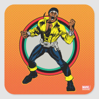 Luke Cage Retro Character Art Square Sticker