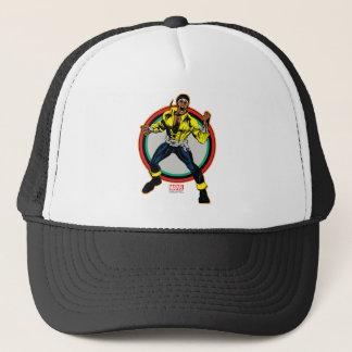 Luke Cage Retro Character Art Trucker Hat