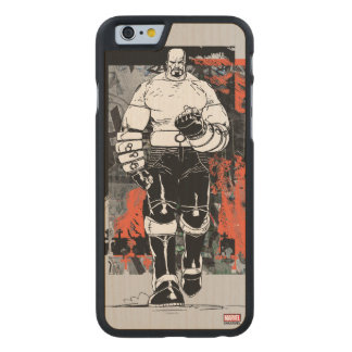 Luke Cage Sketch Carved Maple iPhone 6 Case