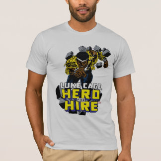 Luke Cage Smashing Through Bricks T-Shirt