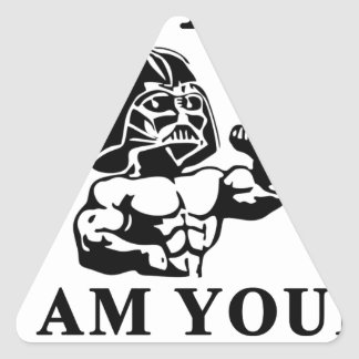 luke i am your STOPPER Triangle Sticker