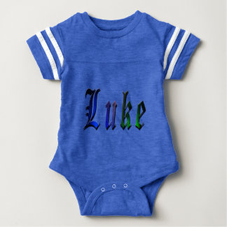 Luke, Name, Logo, Baby Bots Sports Jumpsuit Baby Bodysuit