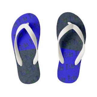 Luke Name Logos, Blue Two Toned Kid's Flip Flops