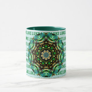 LUKE ~ Personalised Paua Shell Mug ~