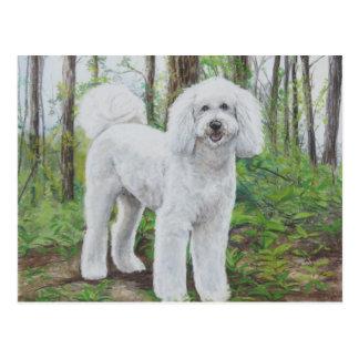 Luke the Golden Doodle Dog Art Postcard