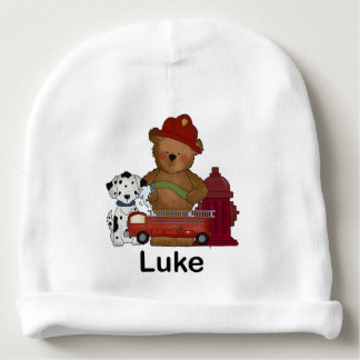 Luke's Fire Bear Baby Beanie