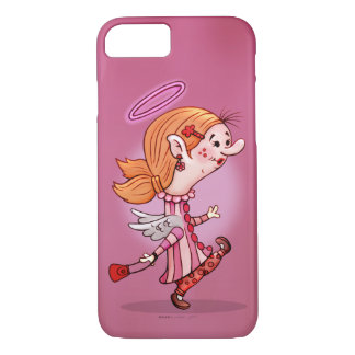 LULU ANGEL CARTOON Apple iPhone 7  Barely There Case-Mate iPhone Case