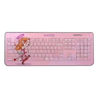 LULU ANGEL CARTOON Custom Wireless Keyboard 2