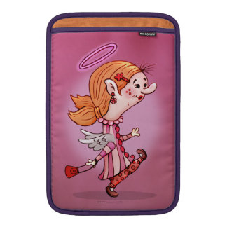 LULU ANGEL CARTOON Macbook Air 11 onz. Sleeve For MacBook Air