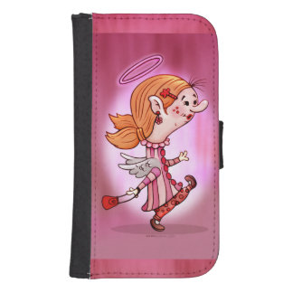 LULU ANGEL CARTOON Samsung Galaxy S4 Wallet Case